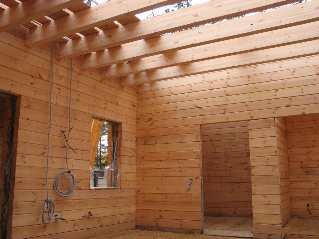 Электромонтаж в деревянном доме фото