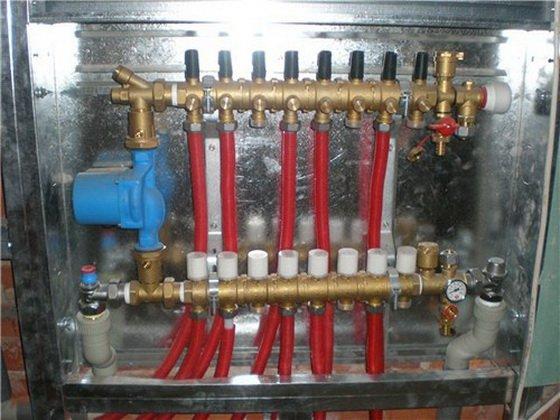 Теплый пол от горячей воды в городской квартире 3